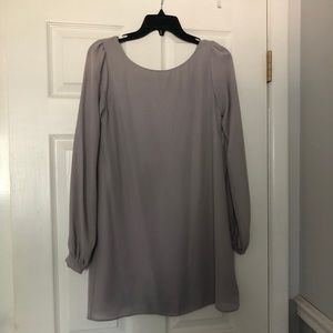 Lulu's Gray Sheer Dress